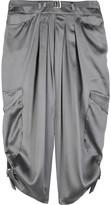 Silk-satin harem pants