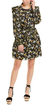 Derek Lam 10 Crosby Printed Silk-Blend Shift Dress