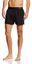 Calvin Klein Men's Short Drawstring Swim Shorts - black -