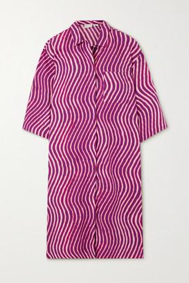 Dries Van Noten Dorali Tie-dyed Cotton-poplin Shirt Dress - Fuchsia