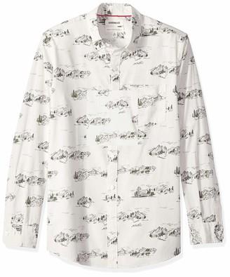 Goodthreads Men's Standard-fit Long-sleeve Printed Poplin Shirt Shirt