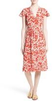 Rebecca Taylor Women's Cherry Blossom Silk Wrap Dress