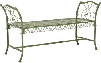 Safavieh Arona Wrought Iron 51In W Outdoor Garden Bench