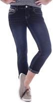 Amethyst Jeans Blue Embellished-Pocket Rose Capri Jeans - Plus