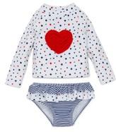 Little Me Infant Girl's Stars & Heart Two-Piece Rashguard Swimsuit