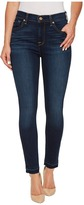 7 For All Mankind High Waist Ankle Skinny w/ Released Hem in Victoria Blue Women's Jeans