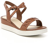 Ecco Touch Braided Plateau Sandals