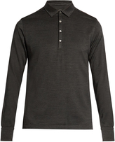 Ermenegildo Zegna Long-sleeved wool and silk-blend polo shirt