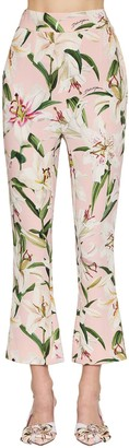 Dolce & Gabbana HIGH WAIST CADY STRETCH CROPPED PANTS