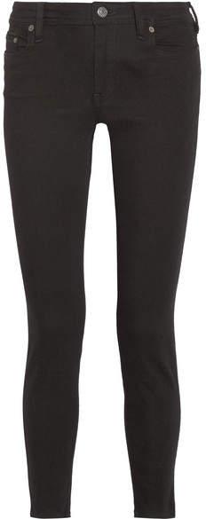 Acne Studios Climb Stay Mid-rise Slim-leg Jeans - Black