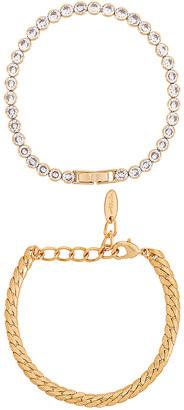 Ettika CZ Link Bracelet Set