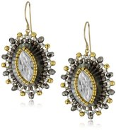 Miguel Ases Mother-Of-Pearl and Swarovski Starburst Earrings