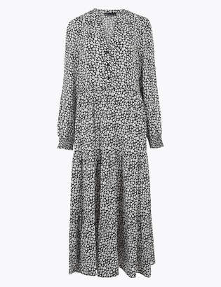 Marks and Spencer Floral V-Neck Midi Relaxed Dress