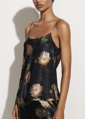 Vince Painted Rose Satin Camisole
