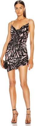 Redemption Butterfly Printed Mini Dress in Black & Pink | FWRD