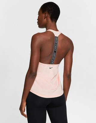 Nike Training Nike Pro Training logo tank in pink