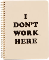 ban. do I Don't Work Here Rough Draft Mini Notebook
