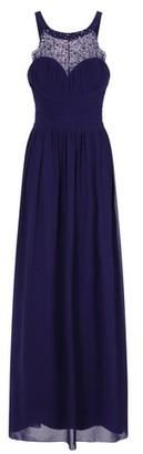 Dorothy Perkins Womens **Little Mistress Navy Diamond Print Maxi Dress