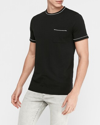 Express Piped Moisture-Wicking Performance Stretch T-Shirt