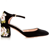 Rochas Embroidered velvet pumps
