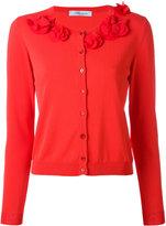 Blumarine collar appliqué cardigan - women - Silk/Polyamide/Spandex/Elastane/Viscose - 44