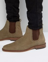 Dune Chelsea Boots Taupe Leather