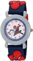 Marvel Boy's 'Spider-Man' Quartz Plastic Casual Watch, Color:Blue (Model: WMA000163)