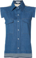 Vionnet sleeveless denim shirt - women - Cotton/Spandex/Elastane - 40