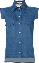 Vionnet sleeveless denim shirt
