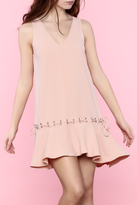 Sugar Lips Pink Flowy Mini Dress