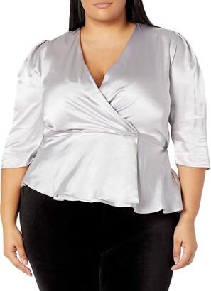 Forever 21 Women's Plus Size Satin Surplice Top