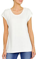 Haggar Embellished Top with Lace