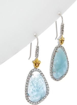 Phillip Gavriel 18K & Silver Aquamarine Drop Earrings