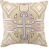 Trina Turk 20x20 Ikat Pillow - Yellow/White