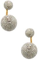 Amrapali 18K Yellow Gold & 7.99 Total Ct. Diamond Ball Earring Jackets