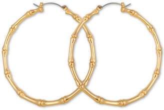 GUESS Large Bamboo Large Hoop Earrings 2-1/4""