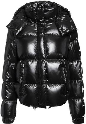 Valentino Vltn Printed Hooded Down Jacket