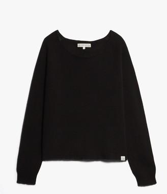 Merz b.Schwanen Merz b. Schwanen - Basic Crew Neck Pullover Black - merino wool   black   silk & cashmere   5/m - Black/Black