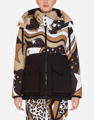 Dolce & Gabbana Millennials Star Print Winter Coat