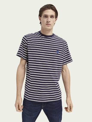 Scotch & Soda Stripe crewneck organic cotton T-shirt | Men