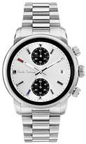 Paul Smith Men's Quartz Watch with White Dial Chronograph Display and Silver Stainless Steel Bracelet P10034