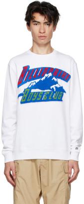 Billionaire Boys Club White Chenille Mountain Logo Sweatshirt