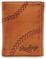 Rawlings Sports Accessories Men's Line Drive Trifold Leather Wallet - Brown