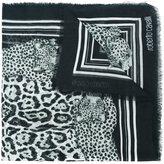 Roberto Cavalli leopard print scarf - women - Cotton/Modal - One Size