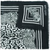 Roberto Cavalli leopard print scarf