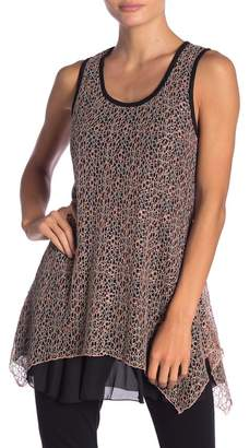 Papillon Lace Knit Sleeveless Tank Top