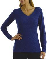 Studio Women's Basketweave Front Panel Sweater