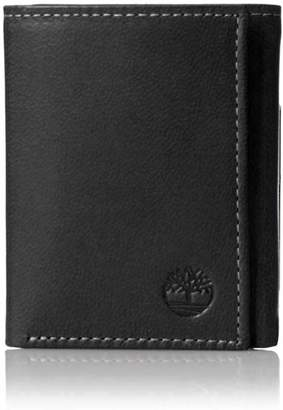 Timberland Men's Exclusive Blix Fine Leather Trifold Wallet