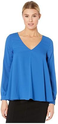 Karen Kane Cross-Back Top (Blue) Women's Dress