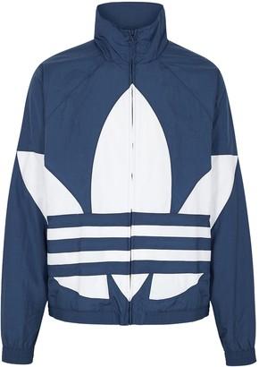 adidas Blue logo-print shell track top